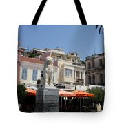 Lion Place Of Samos Tote Bag