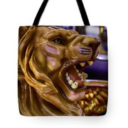Lion Roaring Carrousel Ride Tote Bag
