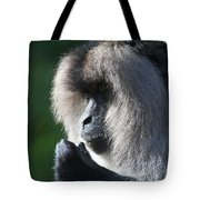 Lion Tailed Macaque Tote Bag