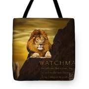 Lion Watchman Tote Bag
