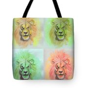 Lion X 4  Tote Bag