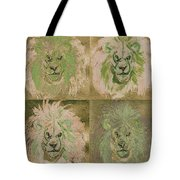 Lion X 4 One Tote Bag