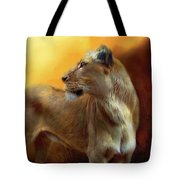 Lioness Is Near Tote Bag