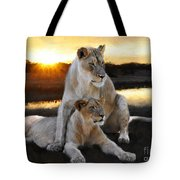 Lioness Protector Tote Bag