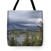 Lions Gate Bridge From Stanley Park Tote Bag