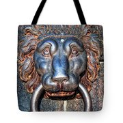 Lions Head Knocker Tote Bag
