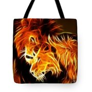 Lions In Love Tote Bag by Pamela Johnson