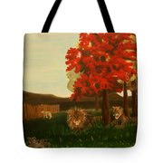 Lions In Wisconsin Tote Bag