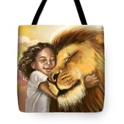 Lion's Kiss Tote Bag by Tamer and Cindy Elsharouni