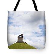 Lions Mound Memorial To The Battle Of Waterlooat Waterloo Belgium Europe Tote Bag by Jon Boyes