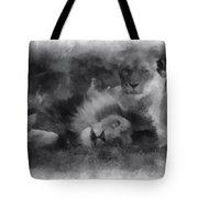 Lions Photo Art 01 Tote Bag