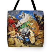 Lions Tigers And Leopard Hunt Homage To Rubens Tote Bag