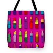 Lipsticks Pattern Tote Bag