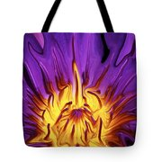 Liqufied Water Lily Tote Bag