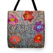 Liquid Flowers Tote Bag