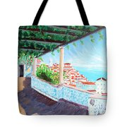Lisbon Alfama With Atlantic Ocean Tote Bag