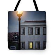 Lisbon Street Lamp Tote Bag