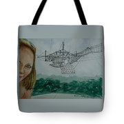 Amber Listening For Aliens At Arecibo Tote Bag