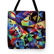 listening to piano concert op.42 of Arnold Schoenberg Tote Bag