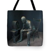Listening To The Radio Tote Bag