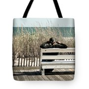 Listening To The Waves Tote Bag