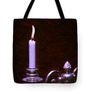Lit Candle Tote Bag