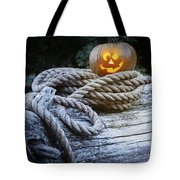 Lit Pumpkin Tote Bag