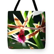 Lit Up Orchid Tote Bag