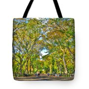 Literary Walk In Central Park Tote Bag