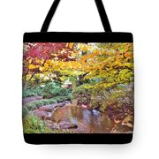 Lithia Park Ablaze With Fall Color Tote Bag