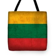 Lithuania Flag Vintage Distressed Finish Tote Bag