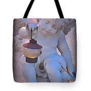 Little Angels Light The Way Tote Bag by John Malone