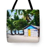 Little Beach Shack Under The Palms Tote Bag
