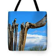 Little Bird On Tall Dead Saguaro Tote Bag