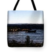 Little Black Boat Abstraction Tote Bag