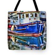 Little Blue Boat Hdr Tote Bag