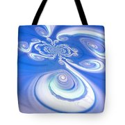 Little Blue Curly Q Tote Bag