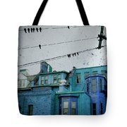 Little Blue Houses Tote Bag