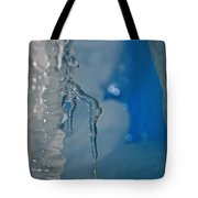 Little Blue Icicle Tote Bag
