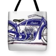 Little Blue Indian Tote Bag