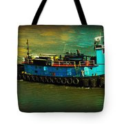 Little Blue Tug - New York City Tote Bag