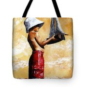 Little Boy In The Beach Tote Bag