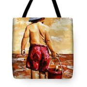 Little Boy On The Beach II Tote Bag
