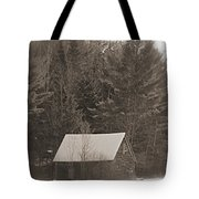 Little Cabin In The Woods Tote Bag