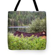 Little Cabin On A Lake Tote Bag