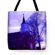 Little Church At Night Tote Bag