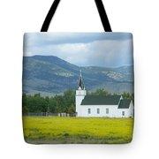 Little Church On Montana Prairie Tote Bag