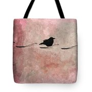 Little Crow In The Pink Tote Bag