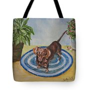 Little Dachshund Puppy Tote Bag