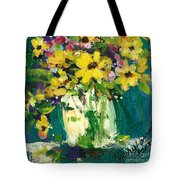 Little Daisies Tote Bag by Sherry Harradence